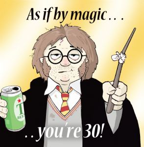 TW202 - Age 30 Funny Card Harry Potter